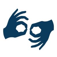 american sign language program icon