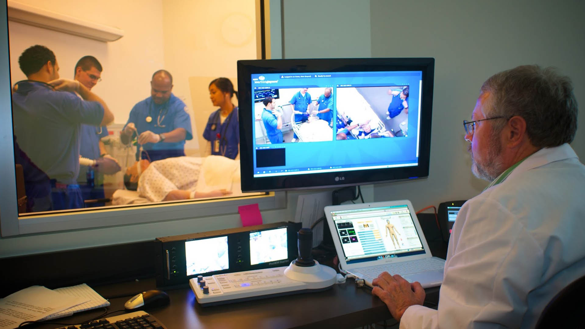 respiratory therapy student works on a patient simulator in TCC's state-of-the-art-facilities