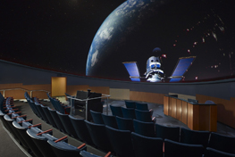 inside the planetarium on the Virginia Beach Campus