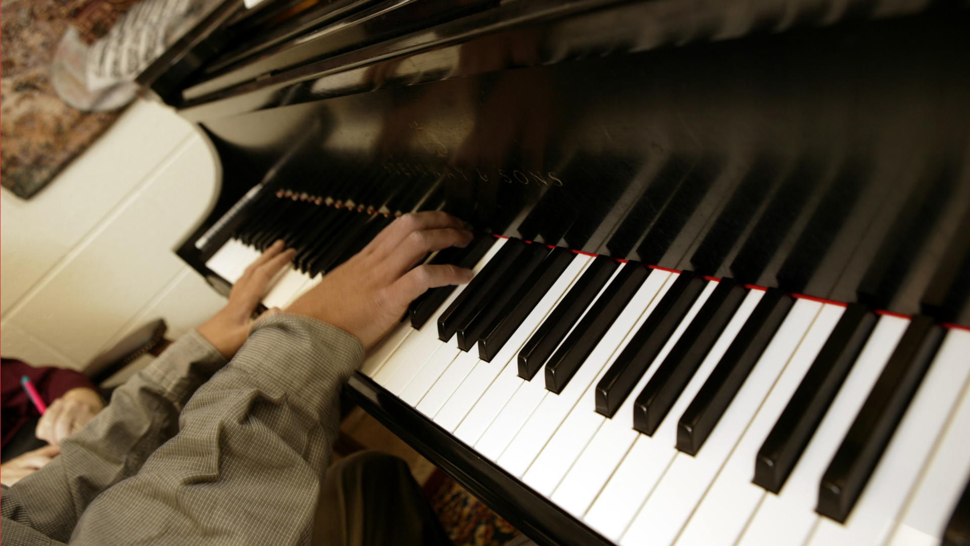 TCC student playing the piano